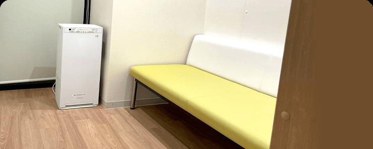 感染予防のため、発熱の方の待合室が別に設けてあります